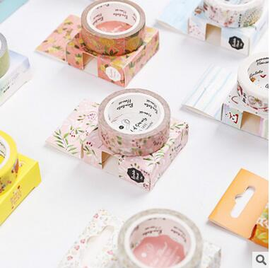 日本和纸胶带 原创和风水彩手帐胶带